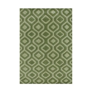 Weatherby Hand-Tufted Green Area Rug