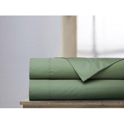 600 Thread Count 100% Cotton Sheet Set Ardor Home Color: Loden, Size: Queen