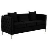 Velvet 73'' Flared Arm Sofa by Mercer41