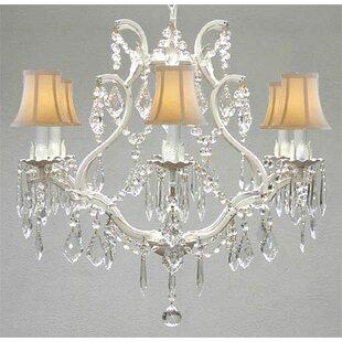 Ophelia & Co. Karlov 6-Light Shaded Chandelier
