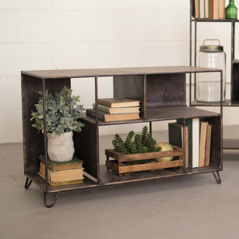 gracie oaks hopkins metal console table & reviews | wayfair