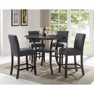 Charandeep 5 Piece Traditional Dining Set by Gracie Oaks Best