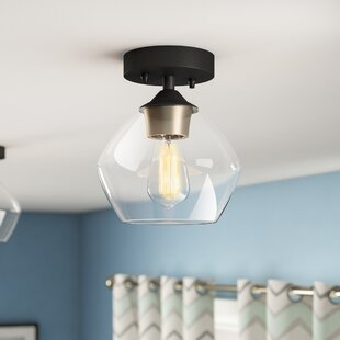 Monadnock 1-Light Semi-Flush Mount by Wrought Studio