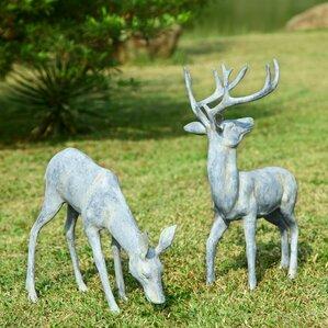 Garden Deer Pair Statue