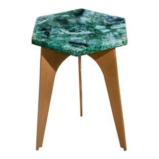 Read Reviews Bellville Fluorite End Table by Everly Quinn