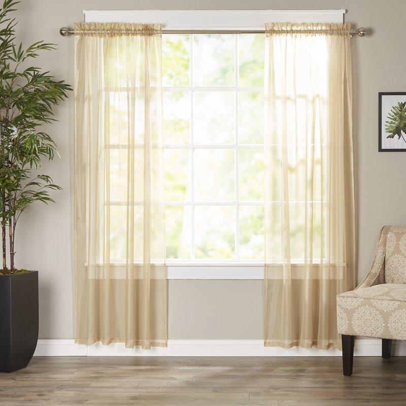 Hunter Green Kitchen Curtains: Wayfair Basics™ Wayfair Basics Solid Sheer Curtain Panels