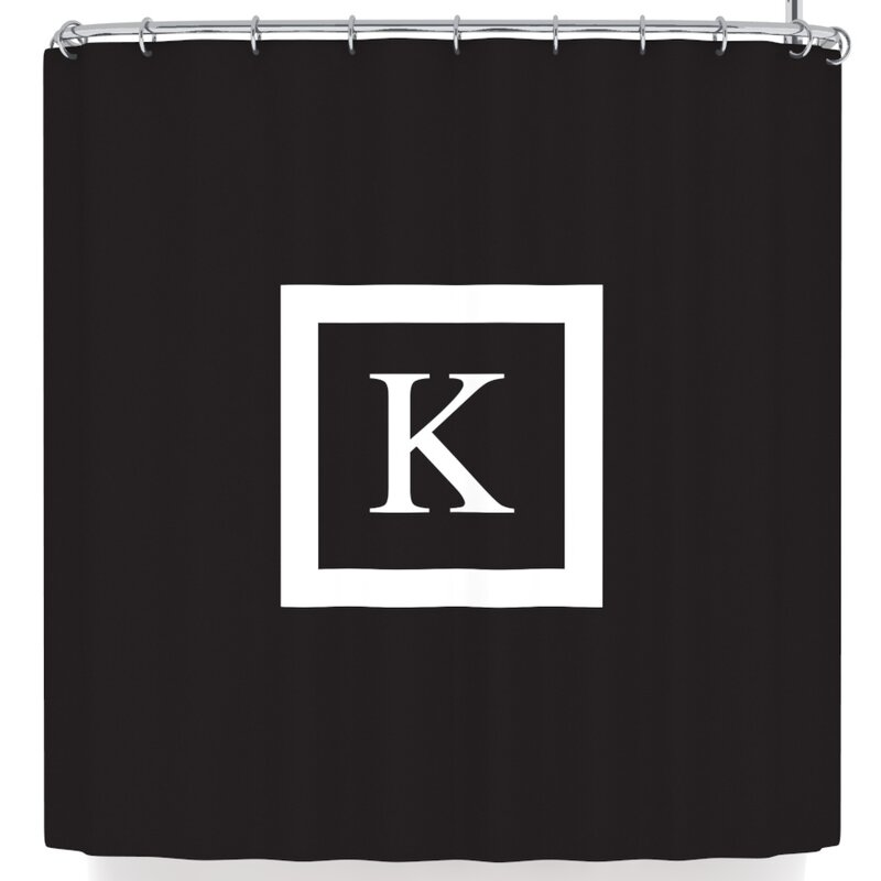 East Urban Home Monogram Solid Shower Curtain & Reviews | Wayfair