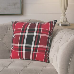 Ellery Plaid Cotton Throw Pillow