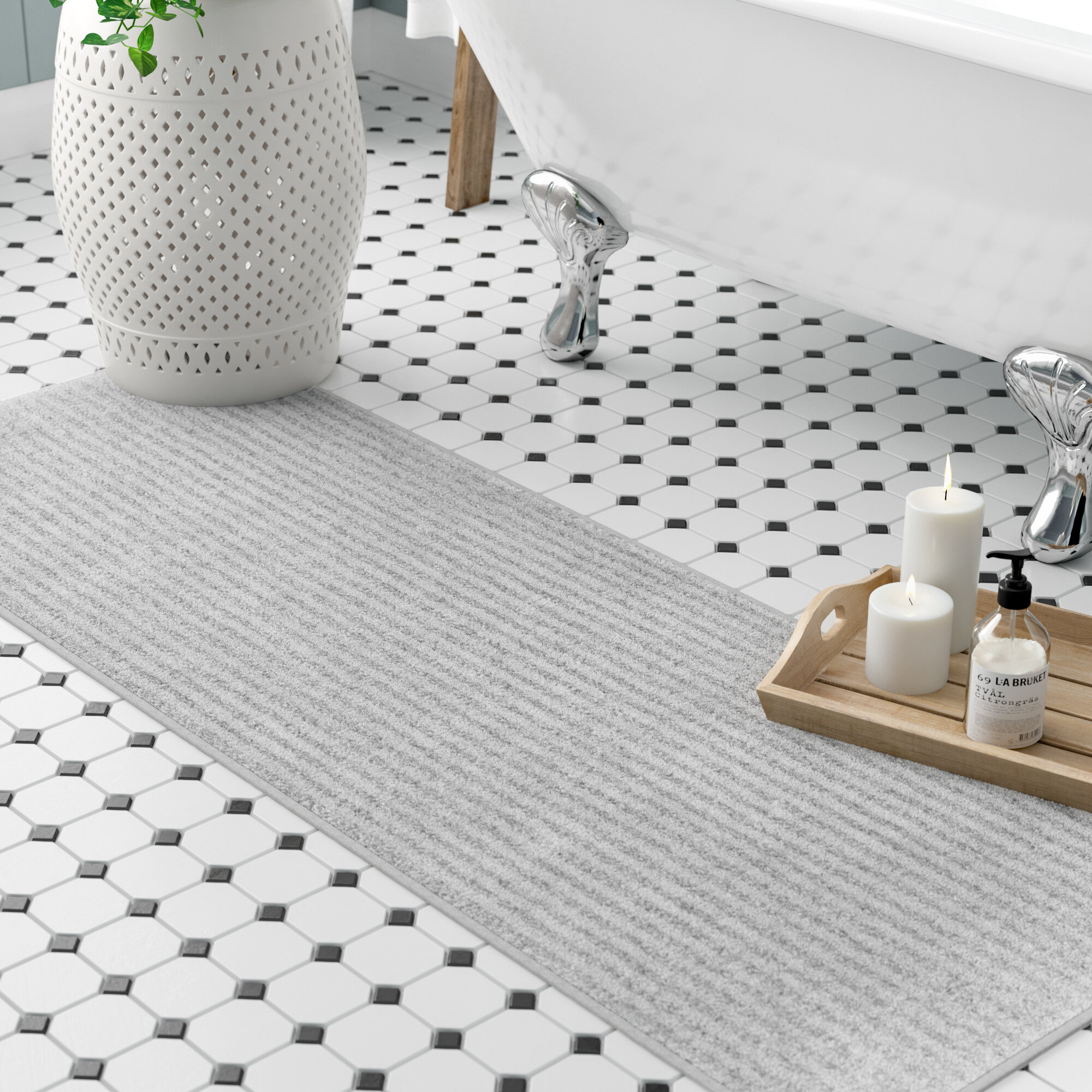 7e41f9293af4 Three Posts Lucille Bath Rug   Reviews