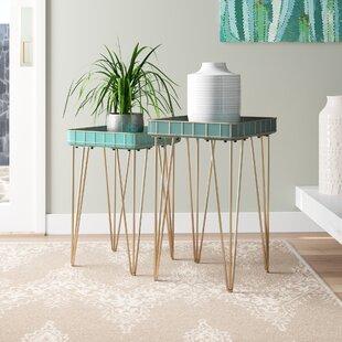Vidette Metal 2 Piece Nesting Plant Table Set