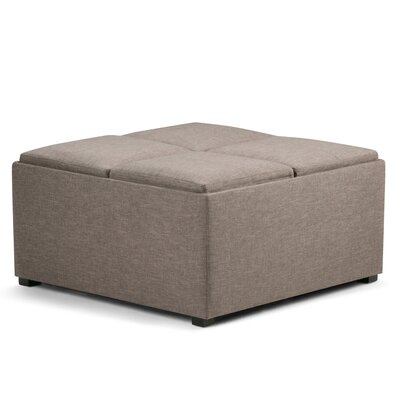 Agnon Storage Ottoman Upholstery Color: Fawn Brown by Alcott Hill