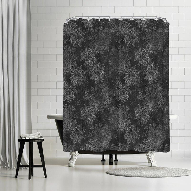 East Urban Home Floral Single Shower Curtain Wayfair