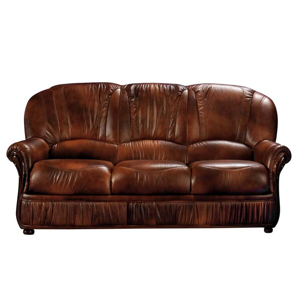 Beautiful NociDesign Brown Leather Sofa | Wayfair