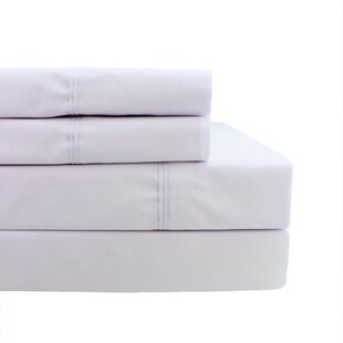 Cournoyer Pleat Hem 300 Thread Count Percale Sheet Set By Rosecliff Heights