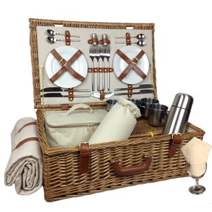 Picnic Basket By Beachcrest Home