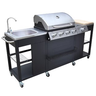 66cm Croydon Outdoor 4-Burner Built-In Liquid Propane Barbecue Grill By Symple Stuff