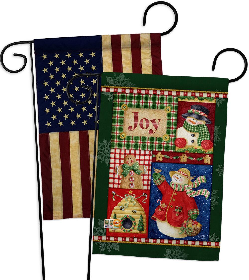 Breeze Decor 2 Piece Joy Snow Woman Impressions Decorative 2 Sided Polyester 19 X 13 Garden Flag Set Wayfair