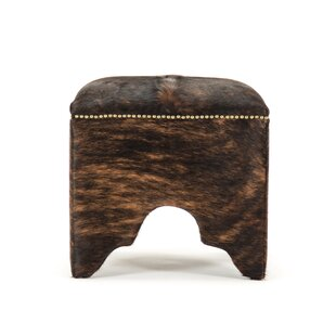 Seraphina Cowhide Cubic Accent Stool by Brayden Studio