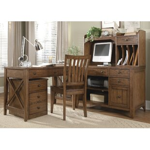 Methuen 6 Piece L-Shape Desk Office Suite by Loon Peak