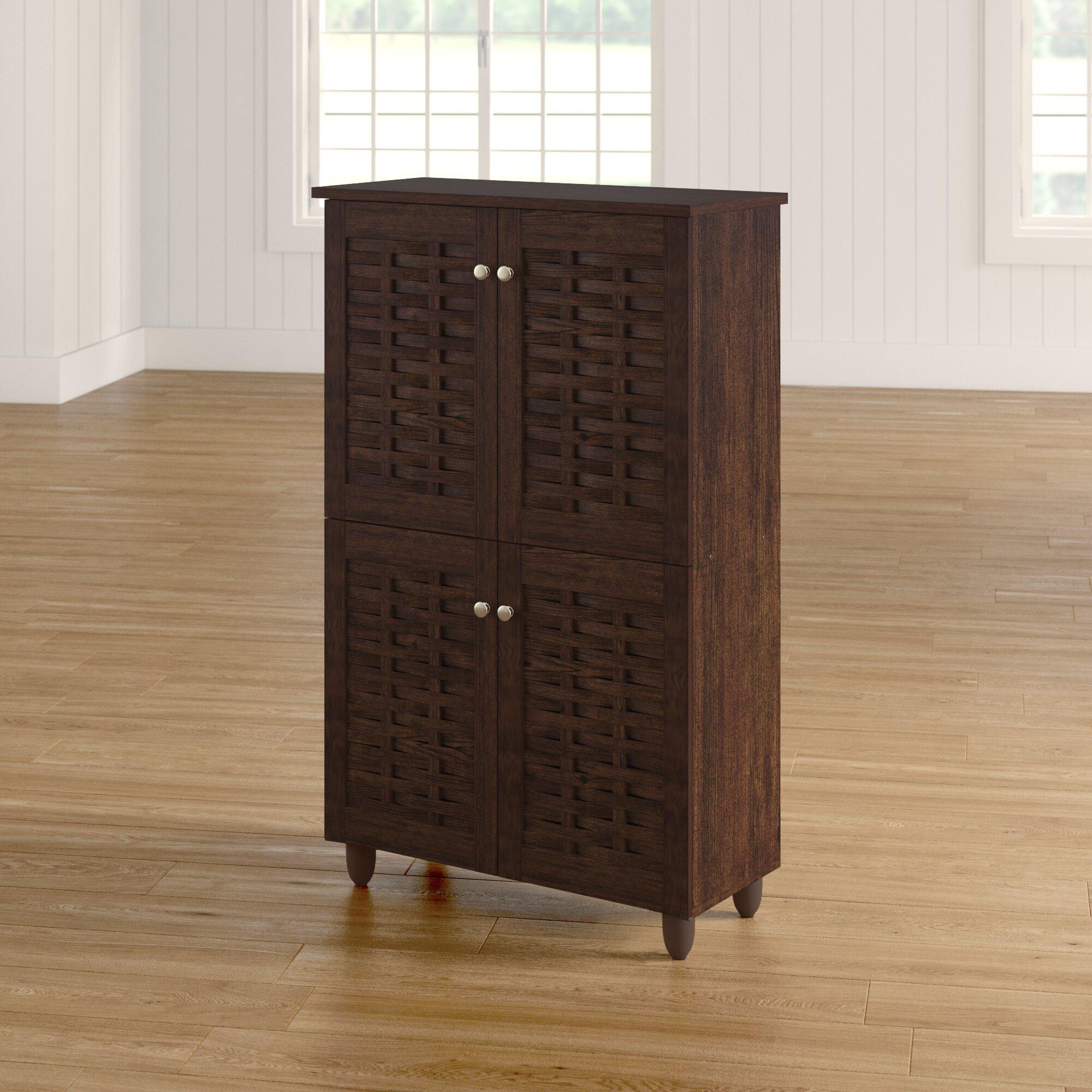 Red Barrel Studio Carnegie 18 Pair Shoe Storage Cabinet Reviews Wayfair