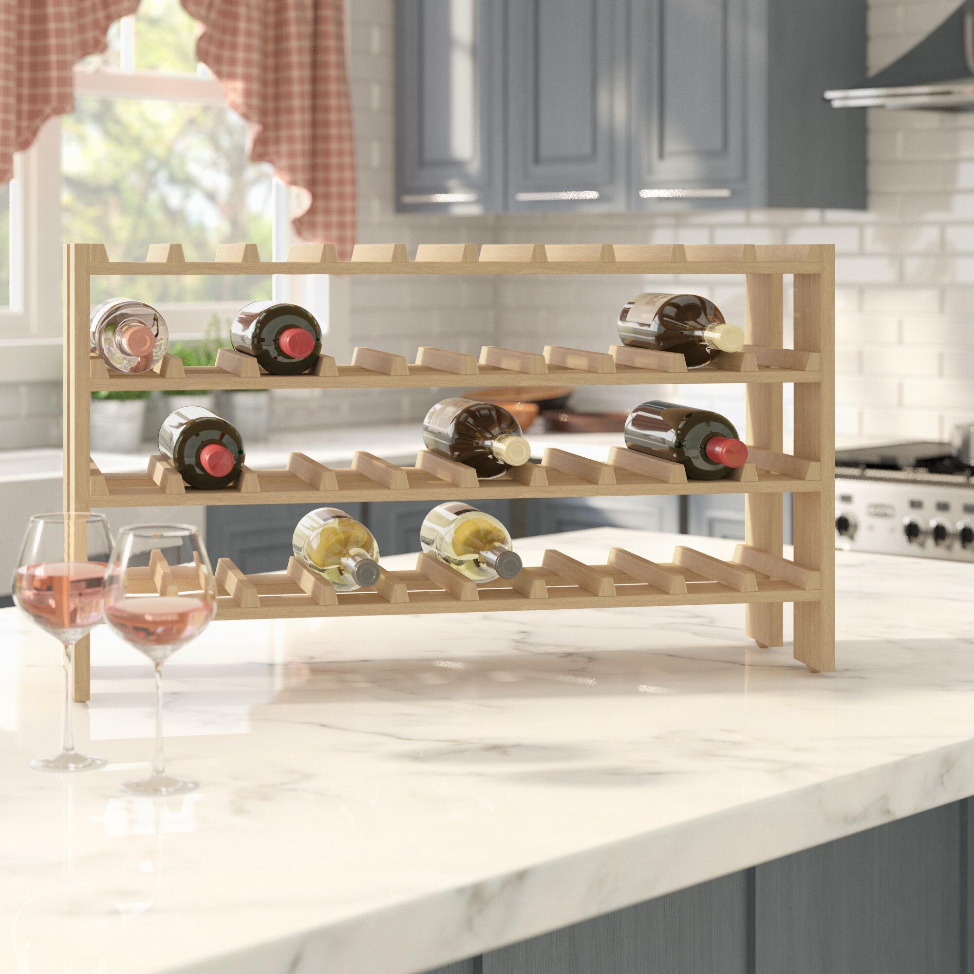 40 Bottle Floor Wine Rack Racks Storage You Ll Love Wayfair. Marvellous  Design Gold ...