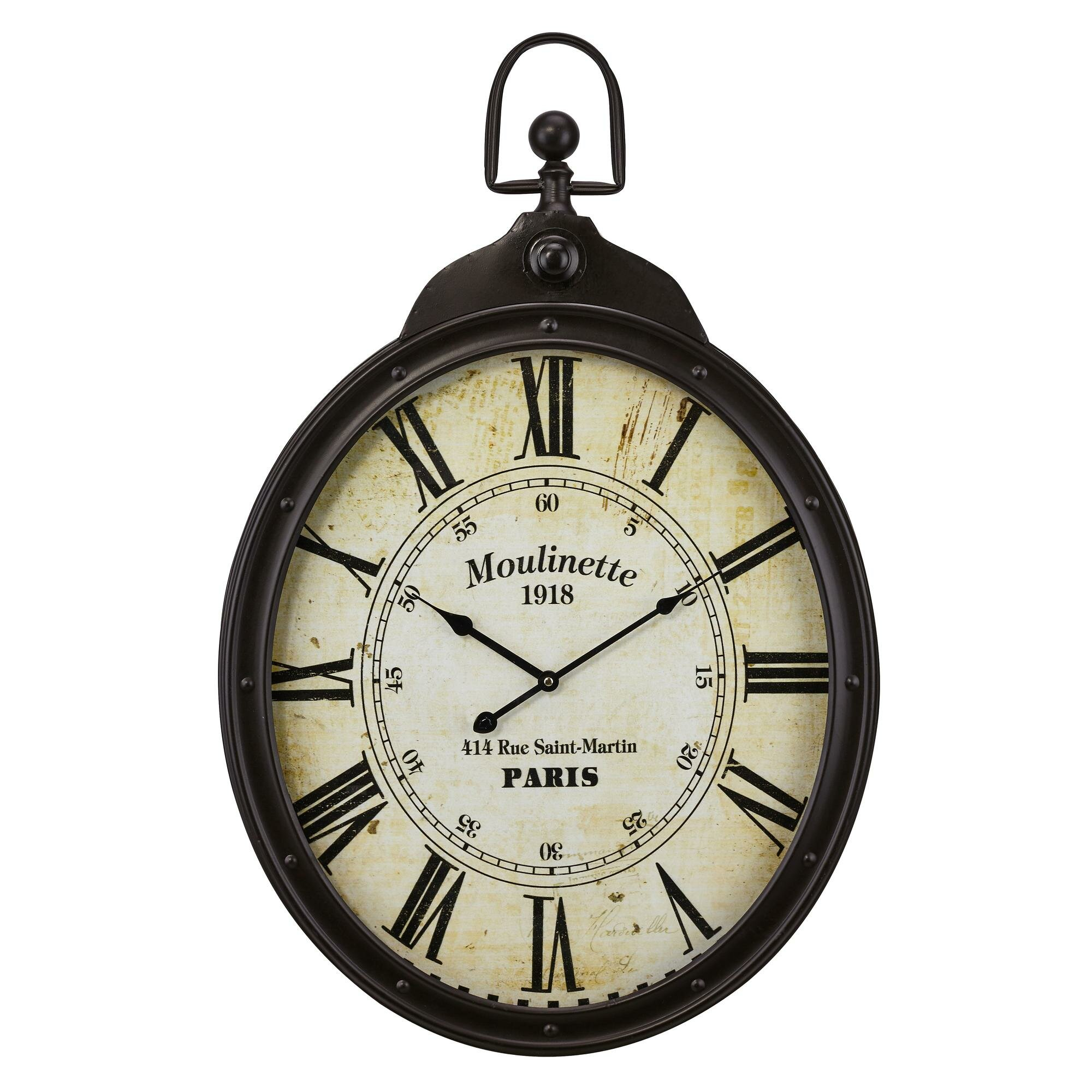 Ophelia Co Eaddy Wall Clock Reviews Wayfair