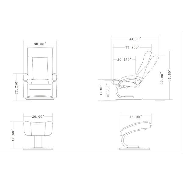 New Ridge Home Goods Hanover Manual Swivel Recliner With Ottoman Wayfair