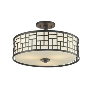 Hummer 3-Light Semi Flush Mount by Bloomsbury Market