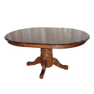 Swarthmore Solid Oak Butterfly Extendable Solid Wood Dining Table by DarHome Co Great price