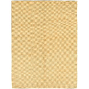 Compare & Buy One-of-a-Kind Didcot Hand-Knotted 5' x 6'8 Wool Gold Area Rug By Isabelline