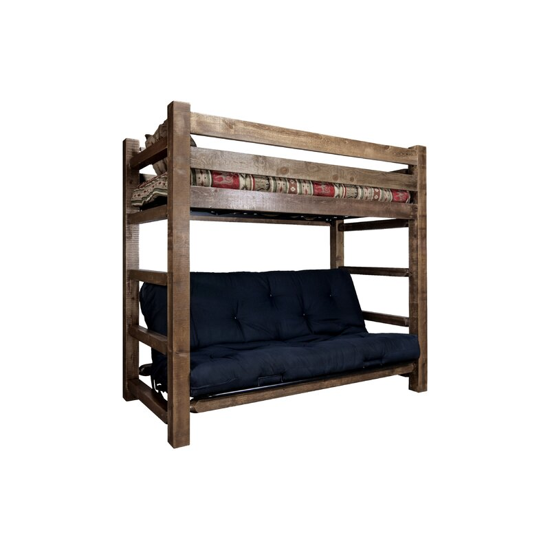 Haleigh Bunk Bed 44 Non Toxic Cotton Twin Futon Mattress