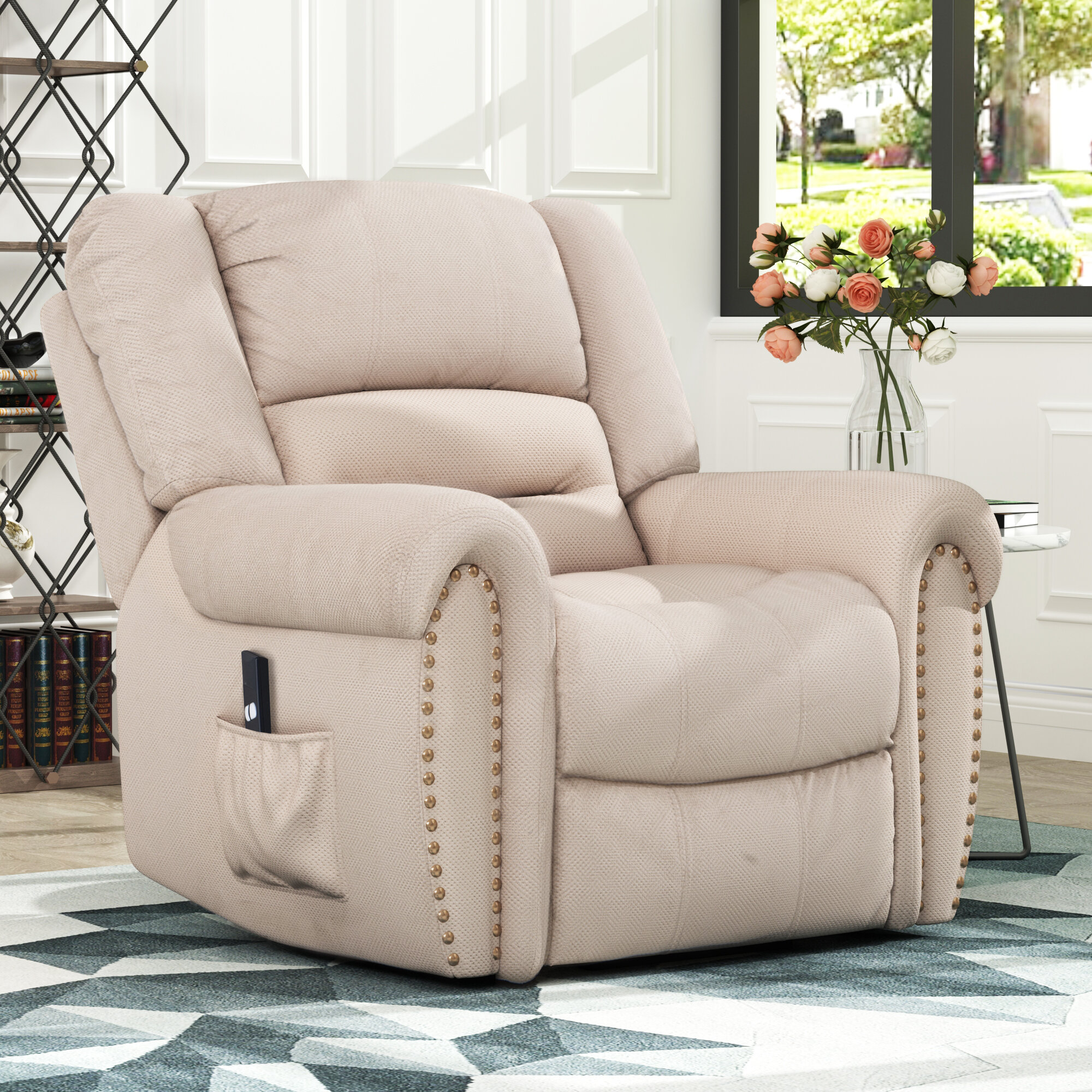 Red Barrel Studio Aquia Faux Leather Power Lift Assist Recliner Wayfair