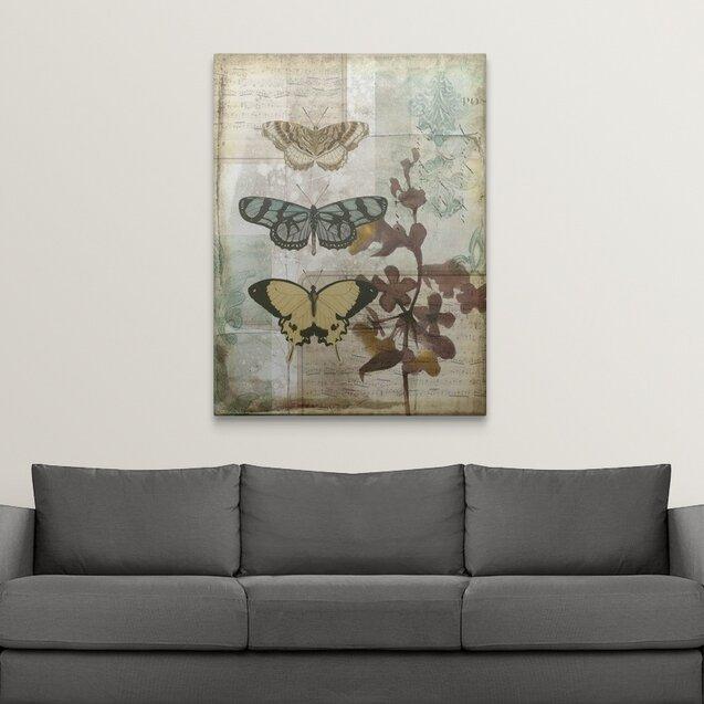 August Grove Music Box Butterflies I Jennifer Goldberger Graphic Art Print Wayfair