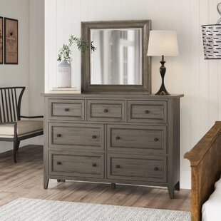 Stoughton 7 Drawer Dresser With Mirror by Rosecliff Heights 2019 Sale