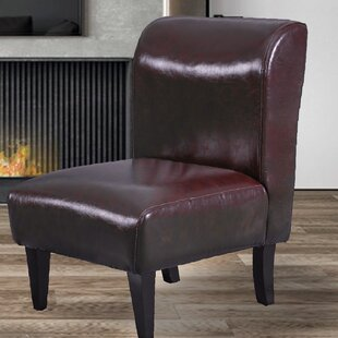 Theophania Faux Leather Slipper Chair by Ebern Designs