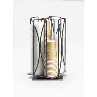 Iron Revolving Wire Cup/Lid Organizer