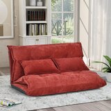 Hathaway Full 43.3 Pillow Back Convertible Sofa by Trule