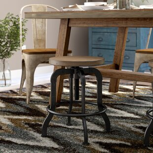 Laurel Foundry Modern Farmhouse Fort Oglethorpe Adjustable Height Bar Stool