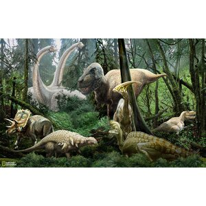 Brynn Dinosaurs Wall Mural