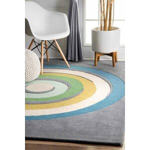 Thomas Paul Hand-Tufted Blue Area Rug