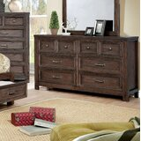 Cuvier 6 Drawer Double Dresser by Loon Peak®