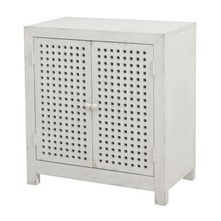 Isherwood Pierced Grid 2 Door Accent Cabinet by Highland Dunes
