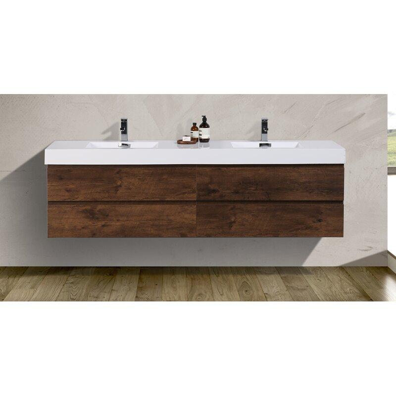 Sinope 79 Wall Mounted Double Bathroom Vanity Set