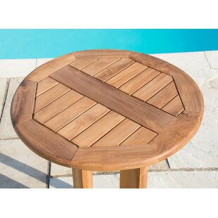 Piekos Teak Bistro Table By Sol 72 Outdoor