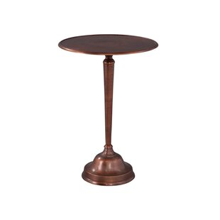Lofland Copper Cast End Table by Red Barrel Studio