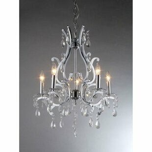 Warehouse of Tiffany Form 5-Light Candle Style Chandelier