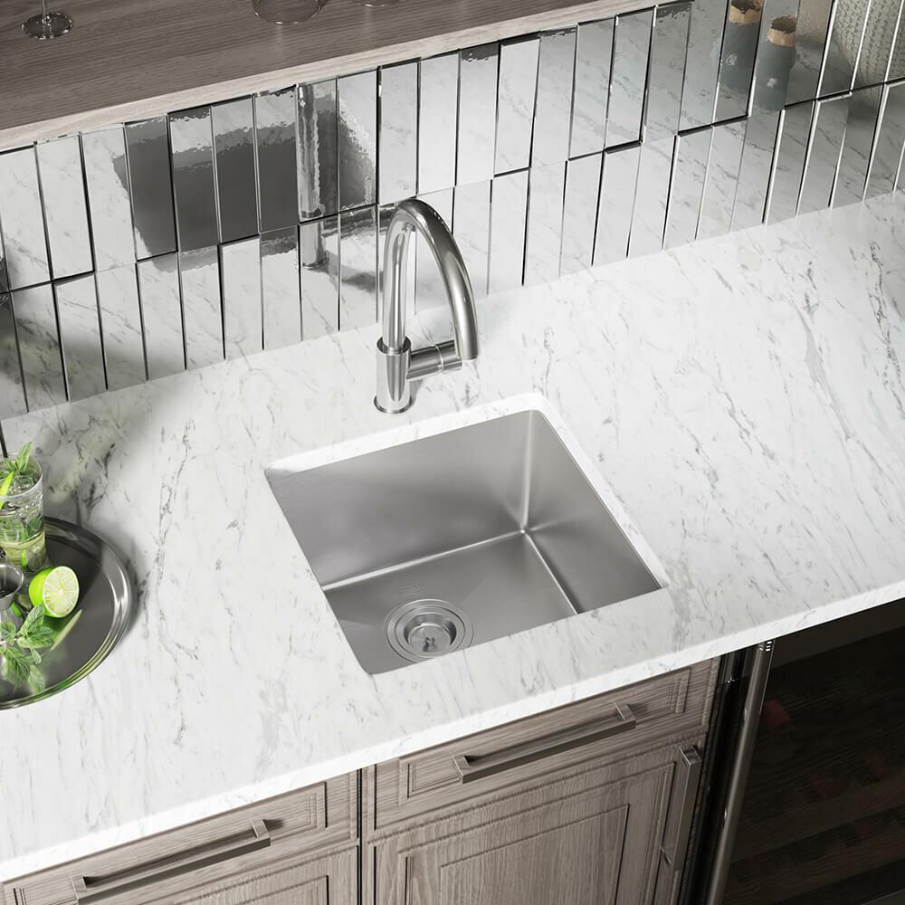 Mrdirect Stainless Steel 17 L X 17 W Undermount Kitchen Sink Reviews Wayfair