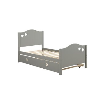 Emiliana Twin Platform Bed with Trundle by Harriet Bee