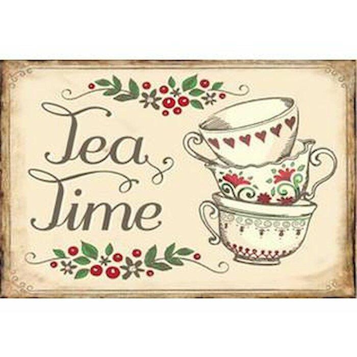 Tea Time Vintage Metal Wall Décor