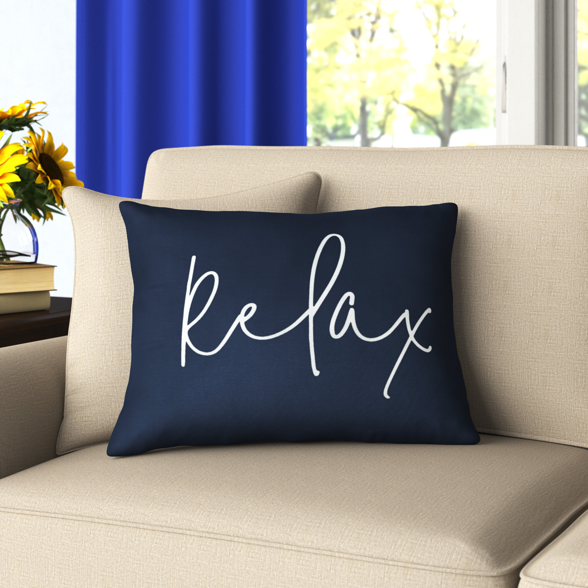 Relax Print Cushion Cover Quote Print Cushion Cover Cute Cushion Cover